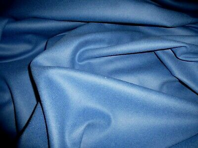 £5.99 • Buy Gorgeous 100% Boiled Wool Fabric Remnant Colour Cornflower 1.3m