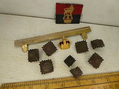 £9.99 • Buy WW2 Era Officers Rank / Medal Bar And Controlled Units Formation Sign Patch