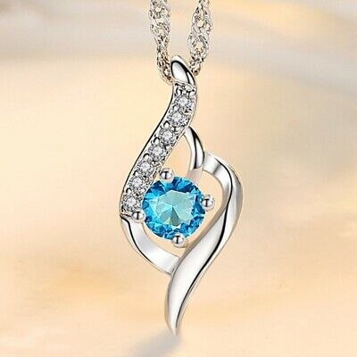 AU1.48 • Buy Pendant Necklace For Women Fashion Jewelry Silver Pendant With Chain