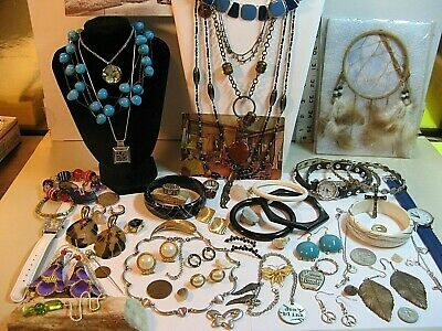 $ CDN30.57 • Buy Vintage To Now Jewelry/watch Lot/necklaces,earrings,watches,brooches & More/nice