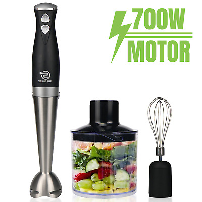£24.99 • Buy 3-in-1 Electric Hand Blender Stick Food Processor Mixer Whisk & Chopper Handheld