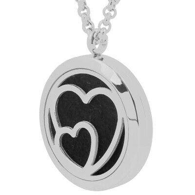 AU12.84 • Buy Heart Essential Oil Diffuser Necklace Young Living Aromatherapy Silver