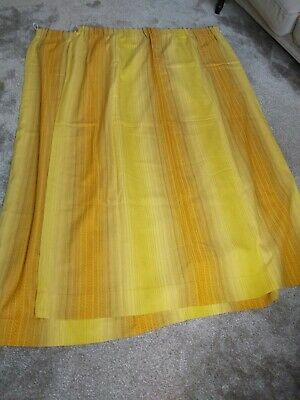 £5 • Buy Vintage Seventies Lined Curtains 70s Mid Century