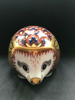 £55 • Buy Royal Crown Derby Collectors Guild Orchard Hedgehog Paperweight & Gold Stopper