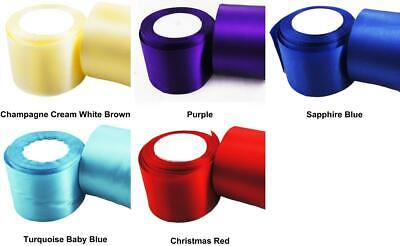 $5.46 • Buy 3m 10ft 3.3yds Large Wide Satin Ribbon Crafts Fabric Cord Decorative Bow Wedd...