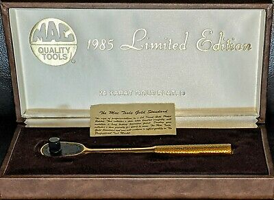 $110 • Buy Mac Tools 1985 Limited Edition 24K Gold Plated 3/8  Ratchet XR85 With Case
