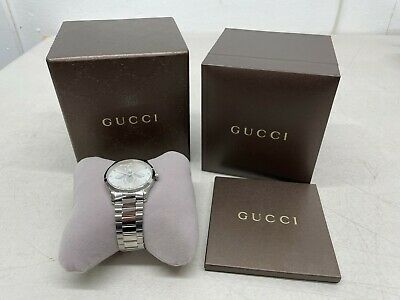 AU667.98 • Buy GUCCI G-Timeless Silver Dial Stainless Steel Women's Watch - YA1264126