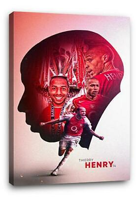£29.99 • Buy THIERRY HENRY BB4 ARSENAL CANVAS Wall Art Poster Print 30x20 CANVAS