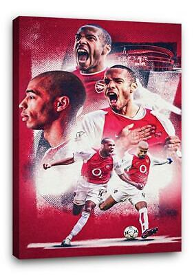£29.99 • Buy THIERRY HENRY BB5 ARSENAL CANVAS Wall Art Poster Print 30x20 CANVAS