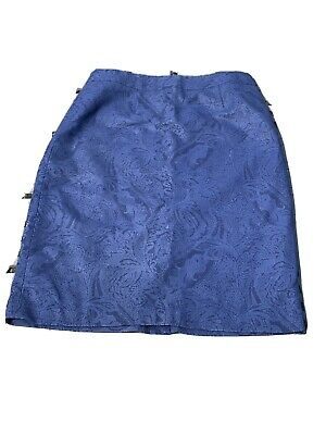 £10.74 • Buy Chadwicks Wool Dress Skirt Womens Size 12 P Lined Floral Blue