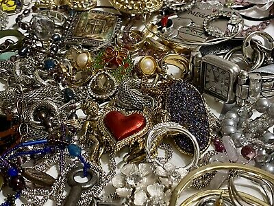 $ CDN6.21 • Buy Huge Lot Vintage To Now Jewelry 2.6 Lbs.Variety Of Jewelry! Some Signed