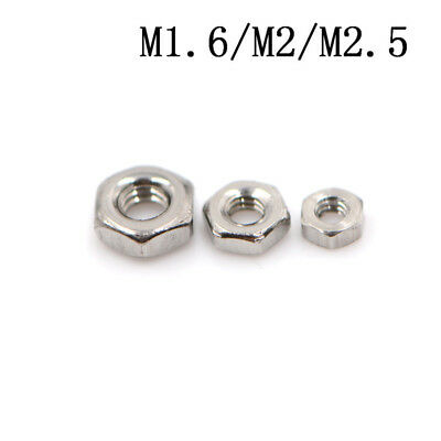 $3.06 • Buy Hot Sale 50 Pcs 304 Stainless Steel Hex Nuts Hexagon Nuts M1.6,M2,M2.5 New.`fa