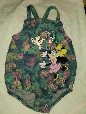 £2.99 • Buy Disney Store Baby Minnie Mouse Tropical Summer Frilled Romper 18-24m