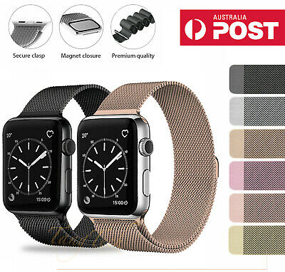$ CDN9.31 • Buy For Apple Watch IWatch Band Series 6 5 4 3 2 1 SE Magnetic Stainless Steel Strap