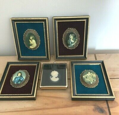 £25 • Buy Vintage Miniature Picture Bundle Cameo Rococo 3 X 4.5 Ins Picture Gallery X 5