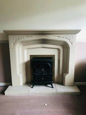 £200 • Buy Used Stone Fireplace Surround With Electric Fire
