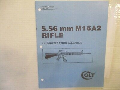 $7 • Buy Colt M16A2 Rifle Illustrated Parts Catalog By Colt, Undated, Reprint, Paperback