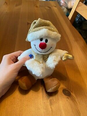 £7.50 • Buy Official TESCO Chilly And Friends Snowman Golden Mini Bean Bag Plush