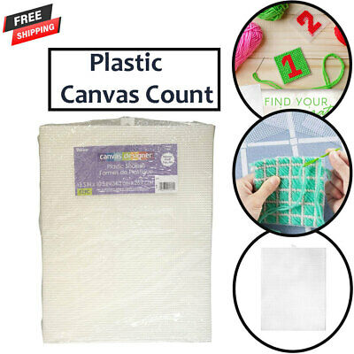 £13.49 • Buy New Plastic Canvas Count Pack Of 12 Clear 10.5 X 13.5-Inch 7