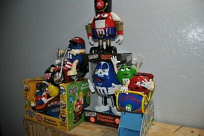$9.95 • Buy M&m Caracter Candy Dispensers Lot Of 5