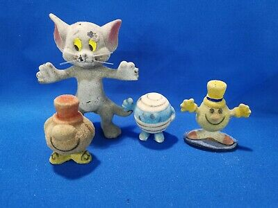 £19.95 • Buy Vintage Mr Men Mr Bump, Happy, Silly Tom & Jerry H.c.f Flock Figure Hargreaves
