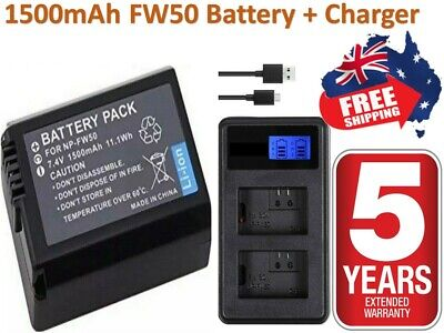 $ CDN27.59 • Buy NP-FW50 Battery / Charger For SONY Alpha A5000,A5100,A6000,A6300,A6500