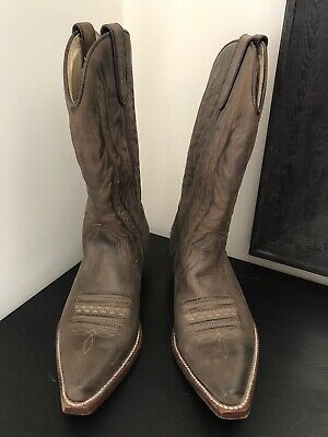 £39.99 • Buy Sancho Brown Leather (Nubuck) Cowboy Western Boots Size 38