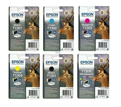 £104.95 • Buy Epson DuraBrite Ultra Stag Ink Cartridge, T1301, T1302 T1303, T1304, T1306, LOT