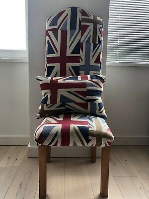 £100 • Buy Union Jack Tall Back Chair With Matching Union Jack Cushion