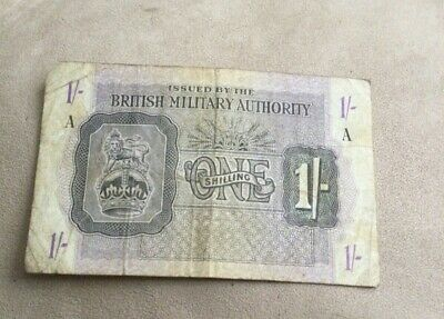 £4.99 • Buy British Military Authority Banknote One Shilling A Issue