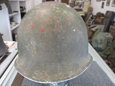$100 • Buy US Army M1 Steel Helmet With Front Seam With Westinghouse Liner, Attributed
