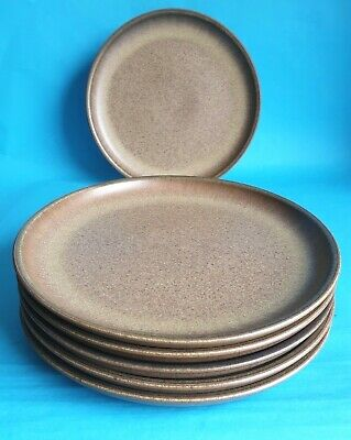 £15.99 • Buy Vintage Denby 'Romany' 26cm Dinner Plates X 6, By Glyn Colledge & Jim Moss