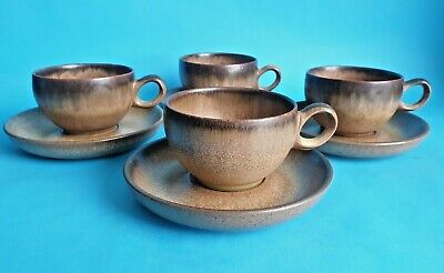 £7.99 • Buy Vintage Denby 'Romany' Cups & Saucers X 4, By Glyn Colledge & Jim Moss 1970's