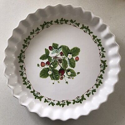 £24.99 • Buy EXTRA LARGE PORTMEIRION SUMMER STRAWBERRIES FLAN QUICHE DISH 31 Cm HEAVY POTTERY