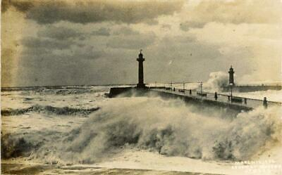 £10 • Buy Real Photographic Postcard Of Storm At Whitby 1906, North Yorkshire By Ross #229
