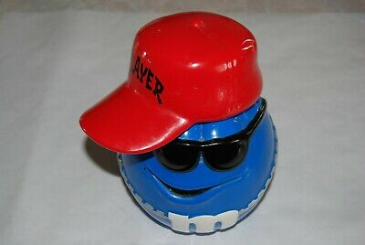 $18.50 • Buy M&M Candy Jar Blue Player With Red Hat By Galerie