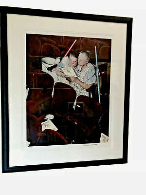 $ CDN6268.24 • Buy Extremely Rare Norman Rockwell Collector Painting Playbill *A.P. Litho*Signed*