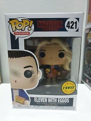 AU30 • Buy Funko POP Vinyl Stranger Things Eleven With Eggos CHASE #421 + POP PROTECTOR!