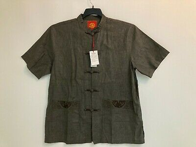 $42 • Buy Men's Classic Wear Chinese Clothing Brown/gray In Color Miniye Cm24111 Jacket