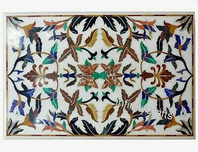 AU2921.93 • Buy 30 X 48  Marble Coffee Table Top Floral Design Inlaid Sofa Table For Living Room