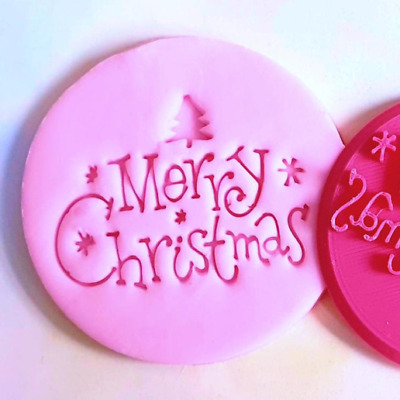 AU6.39 • Buy Merry Christmas Cookie Biscuit Fondant Baking Cake Embosser And Cutter Set.