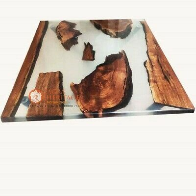 AU851.85 • Buy Clean Resin Epoxy Wooden Dining Conference Table Top Handmade Designer Furniture