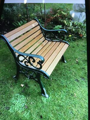 £155 • Buy Oak  Garden Bench With Metal Ends All New Wood  Re Painting Single Seater.