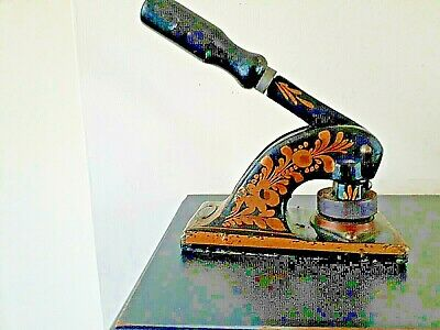 £19.95 • Buy Antique Cast Iron Embossing Stamp Press