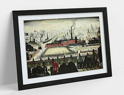 £12.99 • Buy Ls Lowry The Football Match -framed Art Poster Picture Print Artwork- Green