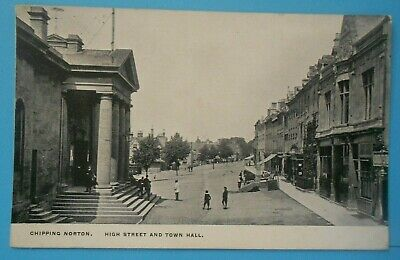 £6.50 • Buy Postcard POSTED 1907 HIGH STREET & TOWN HALL CHIPPING NORTON OXFORDSHIRE