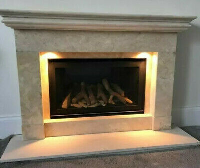 £2200 • Buy The Collection By Michael Miller Limestone Conventional Flue Log Effect Gas Fire