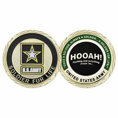 £12.31 • Buy Challenge Coin U.S. ARMY HOOAH SOLDIER FOR LIFE CHALLENGE COIN