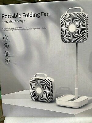 £17.95 • Buy Portable Table Fan Foldable Rechargeable Desk Stand Fan Cooler Travel Office Hom