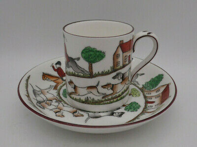 £12.95 • Buy Coffee Can/Cup And Saucer - Crown Staffordshire Hunting Scene